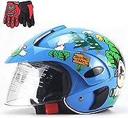 Cute Cartoon Children Helmet,Boys and Girls All-Round Half Helmet,Kids Bike Skateboard Scooter Safety Protecti