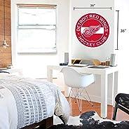Detroit Red Wings 36x36 Team Reposistional Wall Vinyl Stripe Design