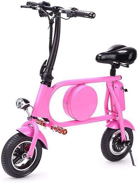 Rziioo Bicicleta eléctrica Gama 25km Mini Bicicleta eléctrica ...
