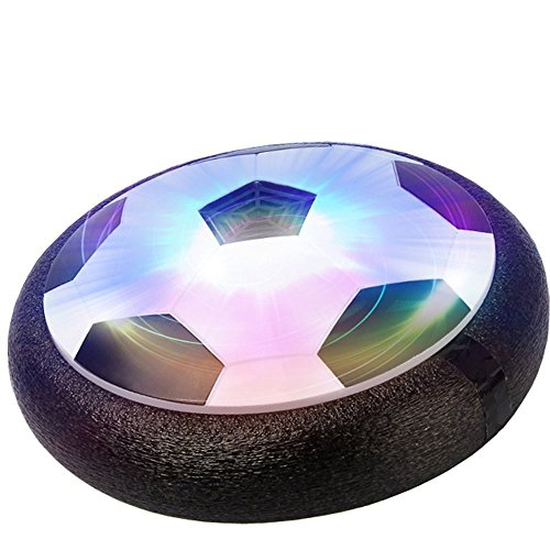 (QTMY Indoor Outdoor LED Foam Bumpers Air Power Soccer Football Hover Disk)