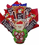 Delight Expressions Santa Says… Holiday Candy Bouquet for Kids - A Christmas Gift Basket Idea