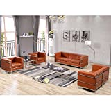 Flash Furniture HERCULES Regal Series Reception Set in Cognac