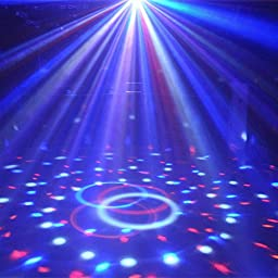 ( 2 Pack ) Dj Club Disco KTV Party Bar RGB Crystal LED Ball Projector Stage Effect Light Colors Change