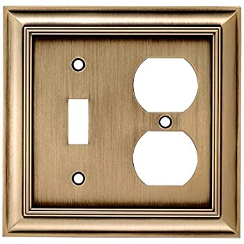 allen roth 2gang antique brass combination metal wall plate