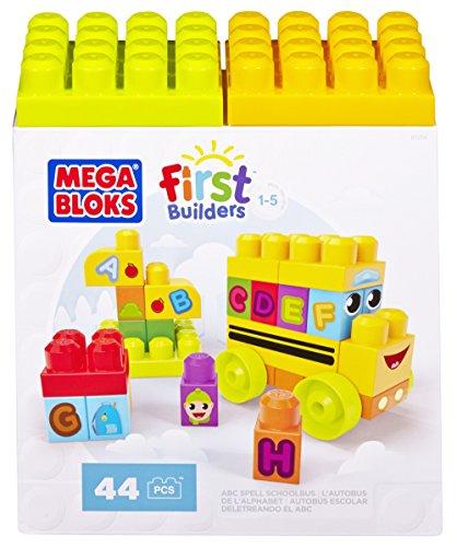 Mega Bloks First Builders ABC Spell School Bus (Alphabet School Bus)