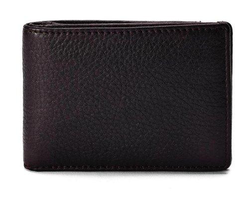 Cowhide Napa Supple Leather Slim Billfold Wallet Color: Brown Winn Slim Wallet