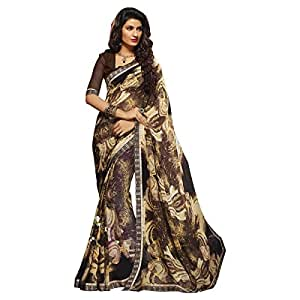 Shilp-Kala Faux Georgette Printed Brown Colored Sarees SKPP1947