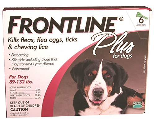 6 MONTH Frontline PLUS Red for Dogs