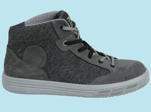 7365GKK 40 BETA SIZE 6.5/40 SUEDE ANKLE SHOE WITH CANVAS INSERTS GREY EN20345 S1P SRC