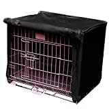 KINGSO Polyester Waterproof Pet Dog Cat Bird Cage Cover Black M