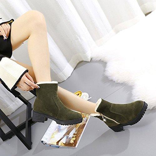 HSXZ Green molla Scarpe nero donna di scarponi pu Comfort esterno verde caduta di per OrqOA