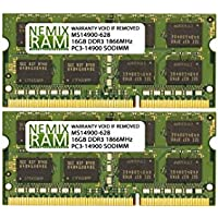 32GB (2 X 16GB) DDR3-1866MHz PC3-14900 SODIMM for Apple iMac 27 Late 2015 Intel Core i5 Quad-Core 3.3GHz MK482LL/A CTO (iMac17,1 Retina 5K Display)
