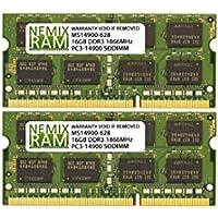 32GB (2 X 16GB) DDR3-1866MHz PC3-14900 SODIMM for Apple iMac 27 Late 2015 Intel Core i7 Quad-Core 4.0GHz MK472LL/A CTO (iMac17,1 Retina 5K Display)