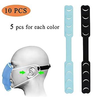 ayuda al dolor de o/ído para ni/ños y adultos gancho para o/ído protector facial Norubvs antiaprietos antiapretones estilo 3 hebilla de ajuste de silicona Extensores de correa para m/áscara