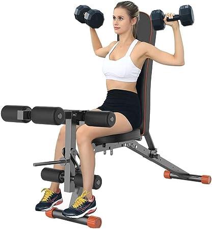 Bancos ajustables Banco de pesas plegable banco con mancuernas silla de banco carga 300 kg silla auxiliar de gimnasio en casa equipo de gimnasio Bancos (Color : Black , Size : 164.5*35.5*43cm) : Amazon.es: Hogar