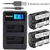 Kastar Battery (X2) & LCD Dual Slim Charger for NP-FM50 NP-FM30 NP-FM51 NP-QM50 NP-QM51 NP-FM55H and Sony CCD-FRV DCR-PC DCR-TRV DCR-DVD DSR-PDX GV HVL Series Camera Camcorder