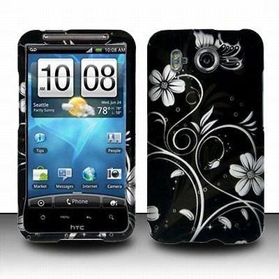 Design White Rubberized Flowers - Design Rubberized Hard Case for HTC Inspire 4G - White Flower