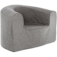 PopLounge Expandable Foam Furniture Armchair, Steeple Gray, 35 x 28 x 26