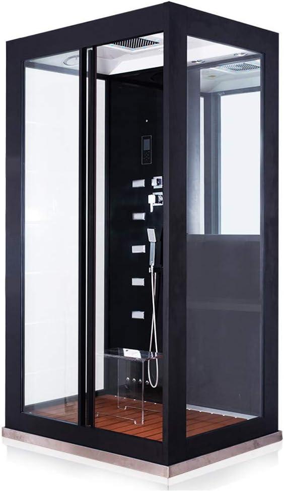 Home Deluxe Black Luxory XL - Ducha de vapor (120 x 90 x 220 cm, incluye accesorios y asiento de cristal acrílico): Amazon.es: Bricolaje y herramientas