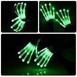 Vbiger LED Gloves Knit Gloves Party Light Show