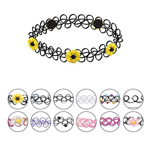 BodyJ4You 24PC Choker Necklace Set Colorful Mix Stretch Elastic Jewelry Women Girl Kids Value Pack