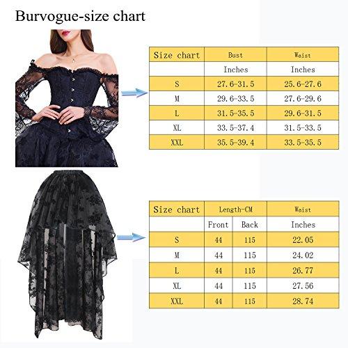 black Corsage Rock Damen Burvogue Steampunk 20058 Gothic Corsagenkleid Kleid Lang P qwvSt4w