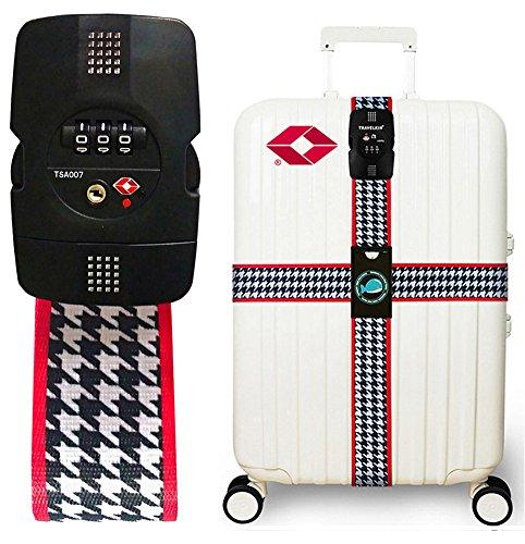 Luggage Straps TSA Lock Cross Strap Adjustable Travel Suitcase Belt Father's Day