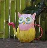 Store Indya - Metall Gießkanne mit Griff - Owl Shape - Outdoor Indoor Gebrauch Home Gardening Decor Zubehör