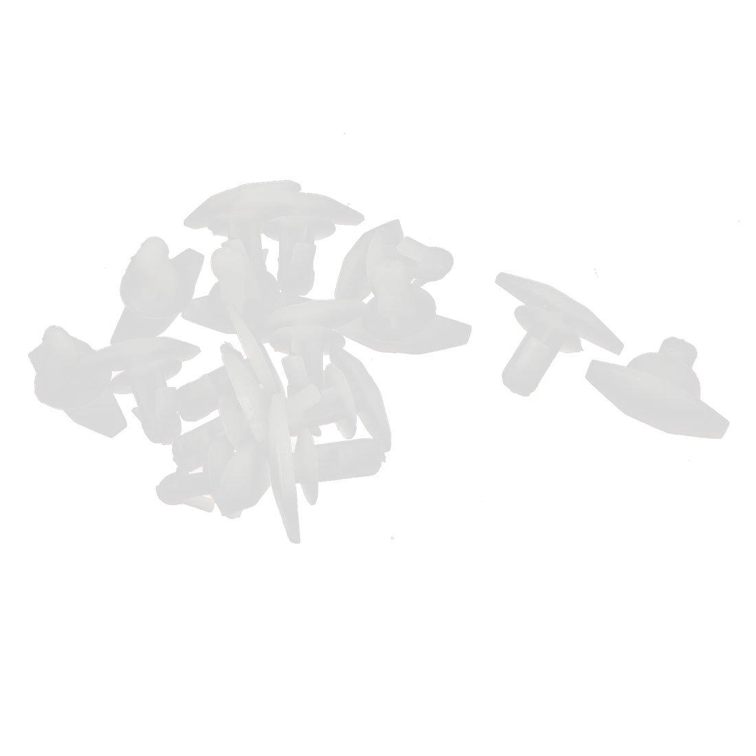 16 Pz bianco plastica rivetti fermo gancetto 4mm x 6mm x 8mm per macchina paraurti parafango