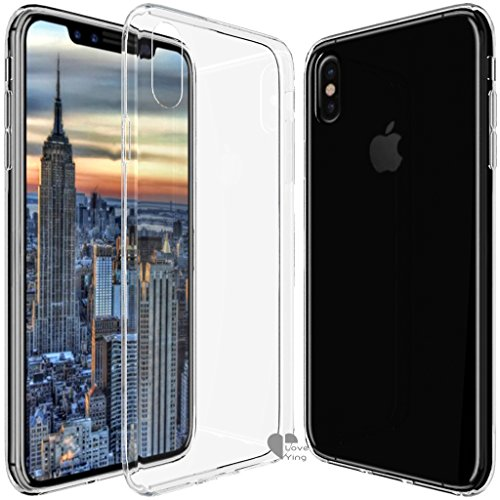iPhone X Case,iPhone X cover Love Ying [Crystal Clear] Ultra[Slim Thin][Anti-Scratches]Flexible TPU Gel Rubber Soft Skin Silicone Protective Case Cover for Apple iPhone X-Clear