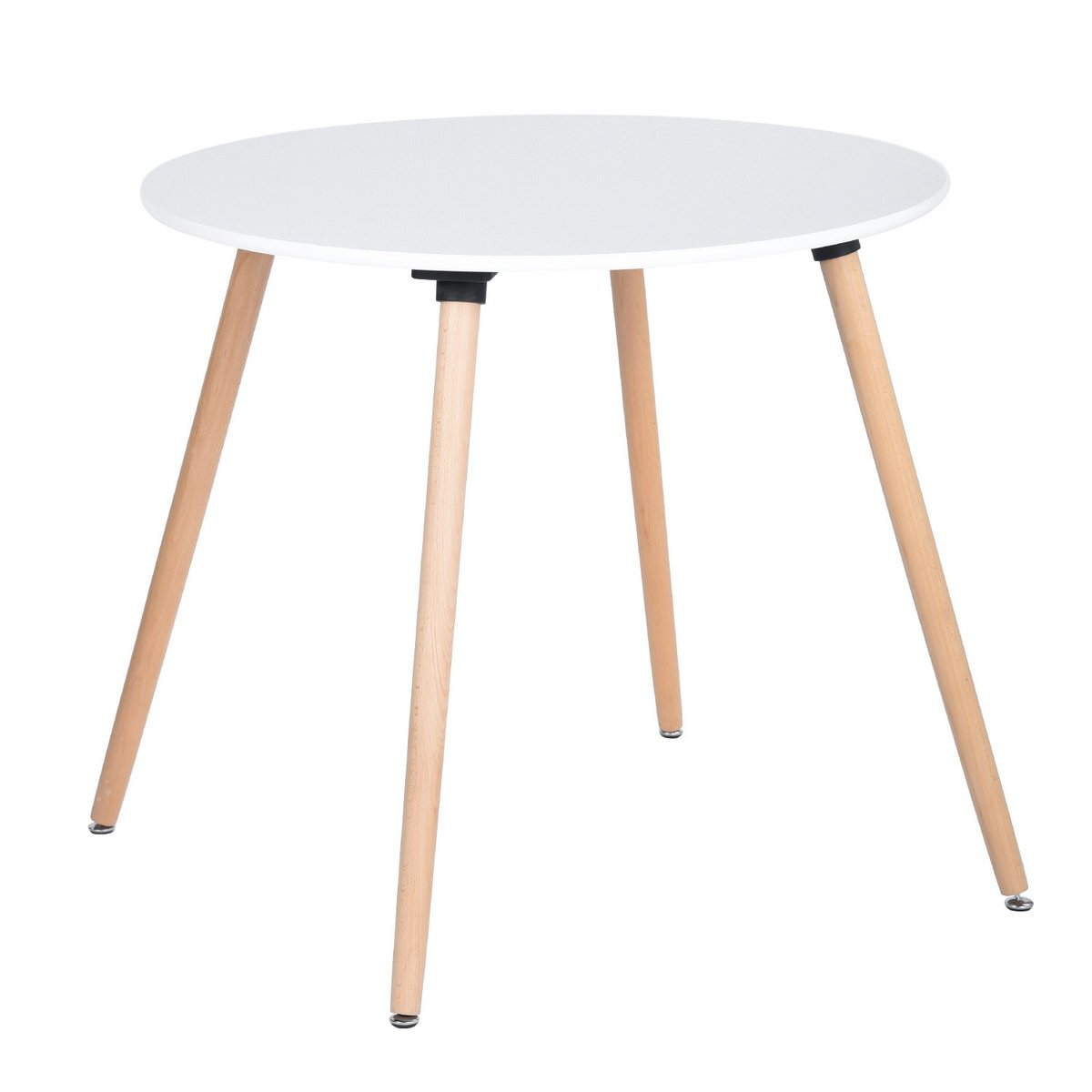 WarmCentre Round Table Dining Kitchen Table Wooden Coffee Table White Dining Room Kitchen Home Furniture