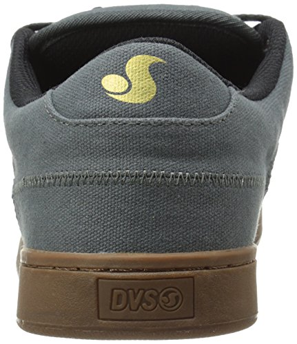 Dvs Hombres Quentin Skateboarding Shoe Dark Shadow Canvas