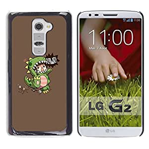 iKiki Tech / Estuche rígido - Children'S Dinosaur Monster Mother - LG G2 D800 D802 D802TA D803 VS980 LS980