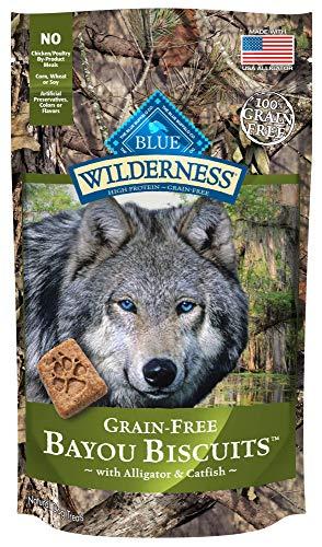 Blue Buffalo Wilderness Bayou Biscuits Grain Free Crunchy Dog Treats Biscuits, Alligator & Catfish 8-oz bag