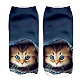 Zmart Womens Girls 3D Novelty Colorful Funny Cat