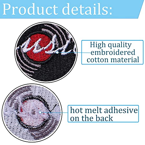 TACVEL Vinyl Record Embroidered DIY Sew on/Iron on Patches for Kids Clothing, Vest, Jackets, Backpacks, Caps, Jeans to Repair Holes/Logo