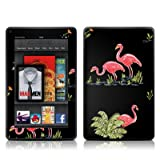Flamingos Design Protective Decal Skin Sticker (Matte Satin Coating) - Matte Satin Coating for Amazon Kindle Fire (7 inch Color Multi-Touch Display)