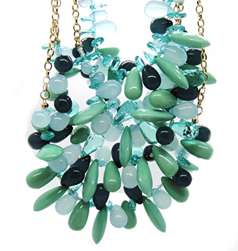 M. Haskell Turquoise-Blue-Teardrop-Bead Necklace-Costume-Jewelry-NWT-38 (Haskell Costume Jewelry)