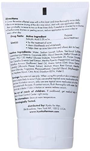 Facial Cleanser For Men By Kyoku For Men Skin Care For Men Face Wash, Kyoku Skin Care Products For Men (3.4oz)