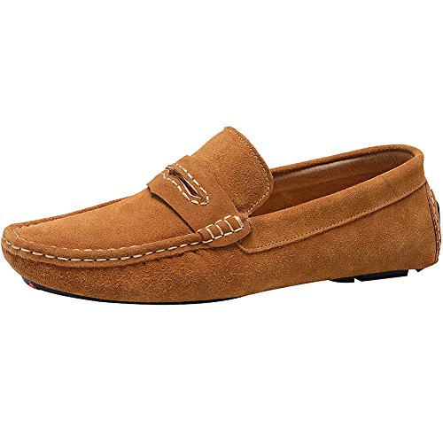 Men's Enllerviid Loafers Tan2 Suede Shoes Casual Buckle dqwrFq4