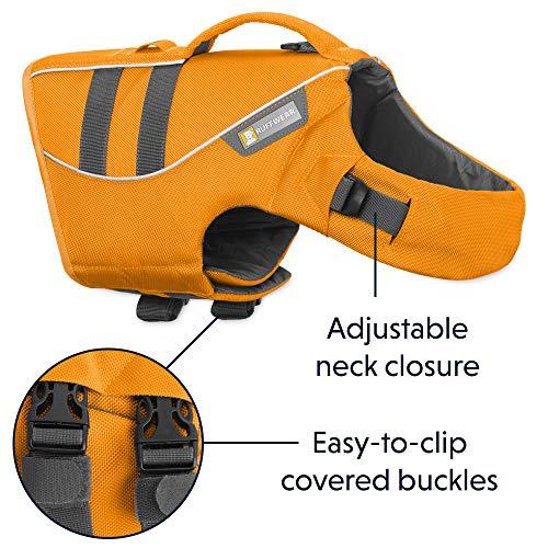 RUFFWEAR - Float Coat Dog Life Jacket for Swimming, Adjustable and Reflective, Wave Orange, Medium