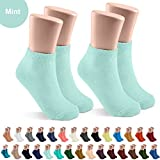 JRP 2 Pack Soft Cotton Crew Socks for Babies, Toddlers, Boys and Girls - Mint - Size 0-4
