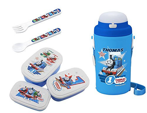 - Thomas the Tank Engine Lunch Set - 3 Lunch (Bento) Boxes, Thermos with Straw, Spoon and Fork