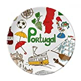 Portugal Landscap Animals National Flag Dessert Plate Decorative Porcelain 8 inch Dinner Home