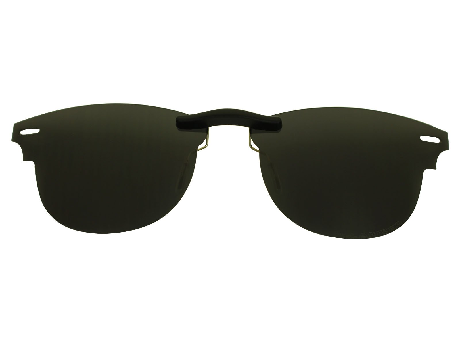 Custom Fit Polarized CLIP-ON Sunglasses For Ray-Ban RB5154 49X21 Black by COODY