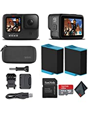 GoPro HERO9 Black - Waterproof Action Camera with Front LCD and Touch Rear Screens, 5K HD Video, 20MP Photos, 1080p Live Streaming, Stabilization + Sandisk 64GB Card and Extra Battery photo