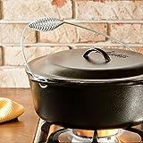 Versatile Lodge 9 Quart Cast Iron Dutch Oven , Spiral Handle Bail