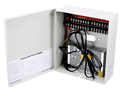 Monoprice 16 Channel CCTV Camera Power Supply - 12VDC - 10Amps by Monoprice