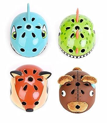 Awesome Boys/Girls Bear Safety Helmet Children Multi-Sport Helmet for Skateboard Cycling Skate Scooter Roller(48-52cm) by Shuangjishan