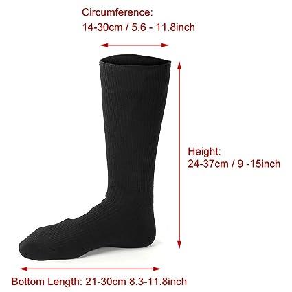 Calcetines Térmicos Calcetines Calientes Climatizada para Hombre y Mujer Pie Calor control Térmica Ideal para practicar senderismo, caza, pesca en el hielo ...